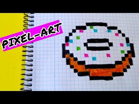 Draw Handmade Pixel Art Como Dibujar Un Donut Kawaii