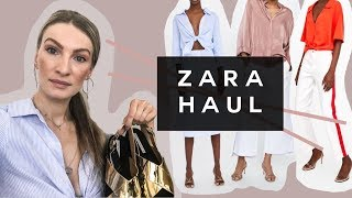 ZARA SALE HAUL & TRY ON | CLOTHES + SHOES | MON MODE