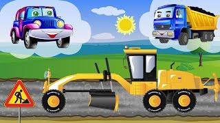 Видео для детей про машинки. Джипик и рабочие машины у новом видео для детей.