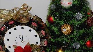 Новогодние Букеты и Композиции из конфет