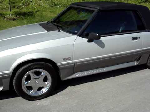 1992 Ford Mustang Gt Convertible Fox Body Walk Aroud Youtube