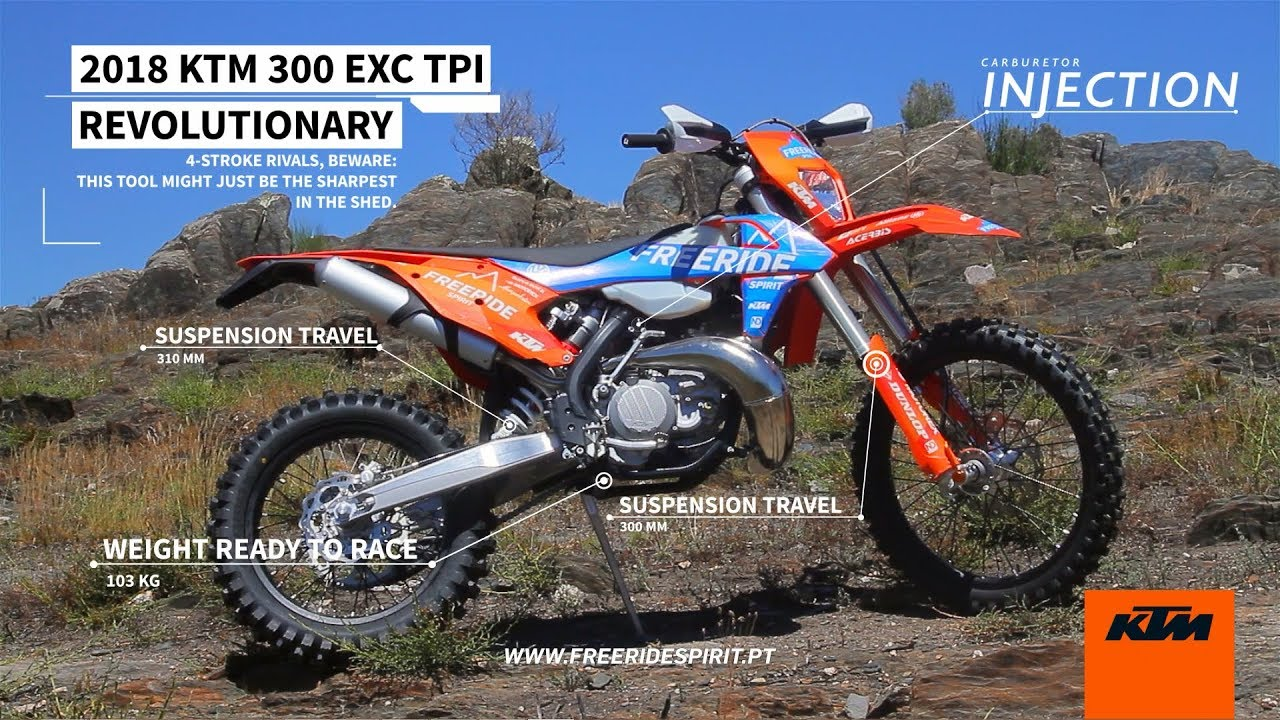 2018 ktm tpi 300. modren ktm 2018 ktm 300 exc tpi  test ride at porto tracks for ktm tpi t
