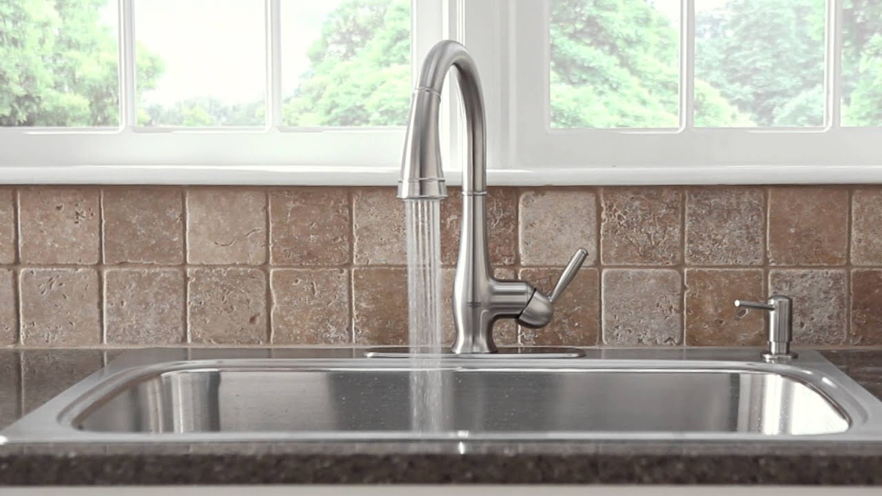 grohe kitchen faucet recessed lighting | wexford product video - youtube