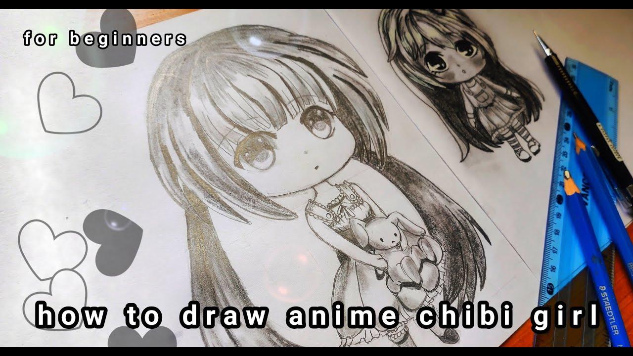 Cara Menggambar Anime Chibi Girl Untuk Pemula How To Draw Anime Chibi Girl For Beginner Youtube