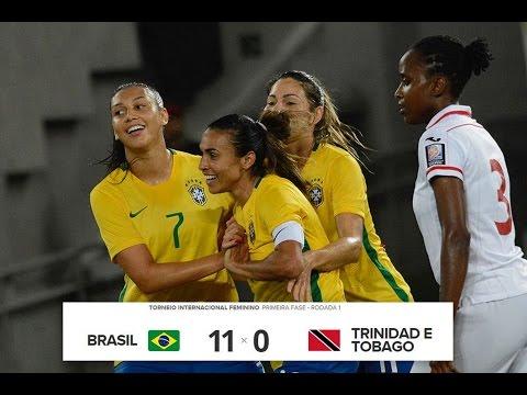 Brasil 11x0 Trinidad e Tobago - Torneio Internacional Feminino 09/12/15