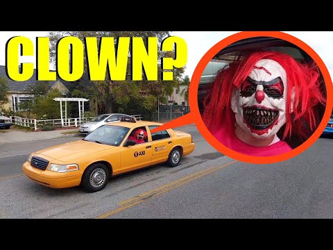 if you see this clown taxi driver, do not get in the car! Run Away FAST!!
