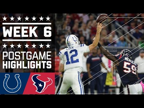 Colts vs. Texans | NFL Week 6 Game Highlights