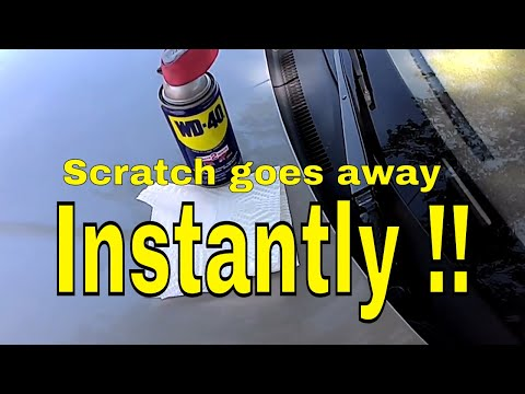 How to remove scratches on your car (REALLY WORKS !!) *WD-40*