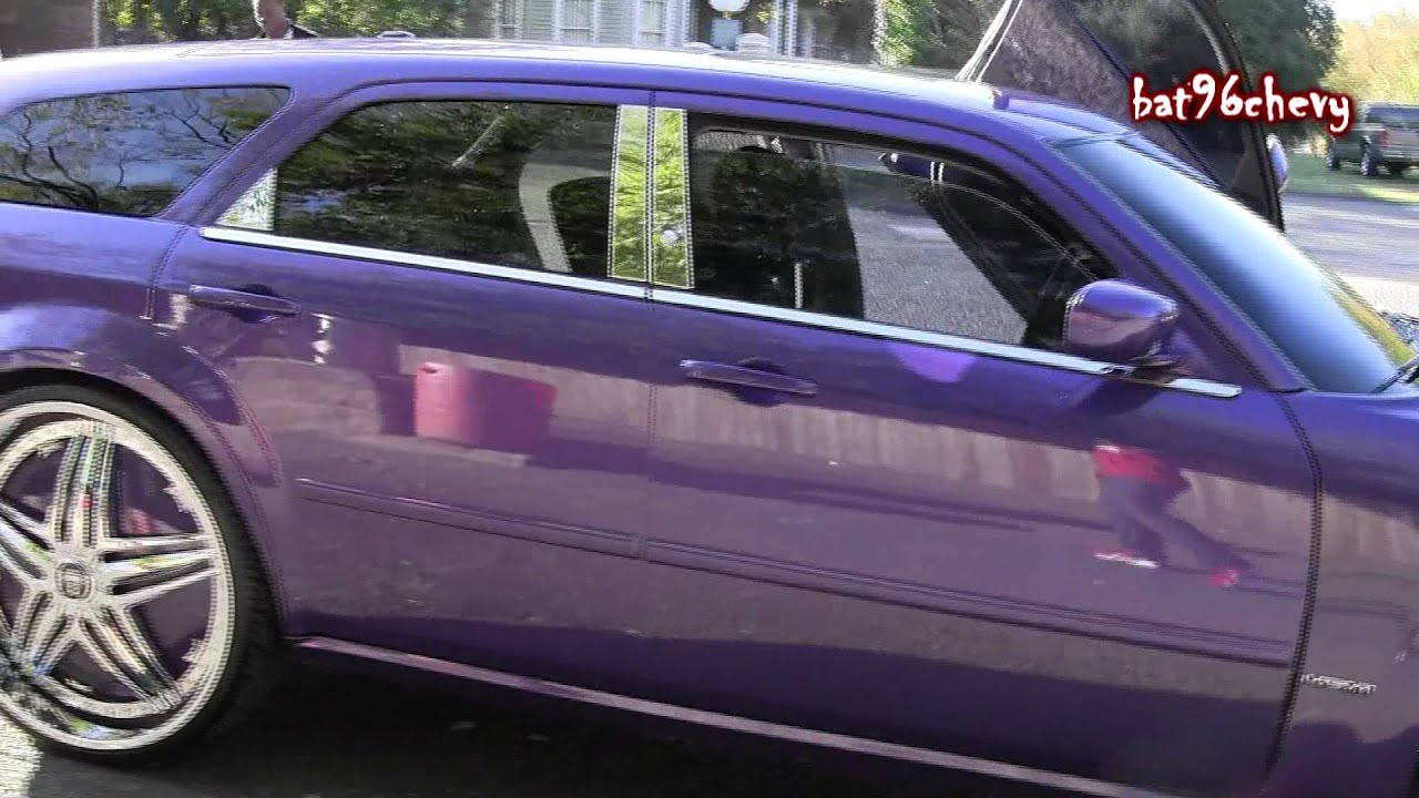 Purple Dodge Magnum On 28 Quot Dub Ghetto Bandit Floaters Pt 1