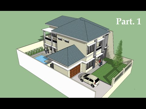 Sketchup tutorial house building Part 1