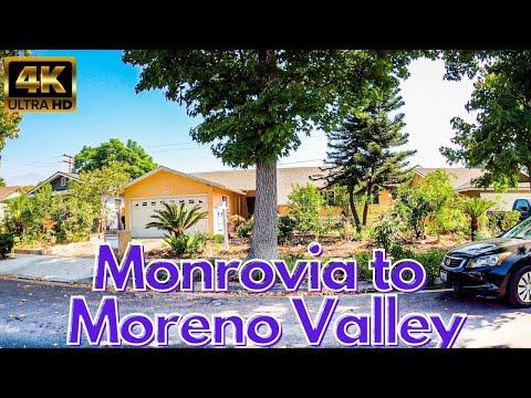 Monrovia To Moreno Valley California Home Tours 4k Los Angeles & Riverside County CA Virtual House