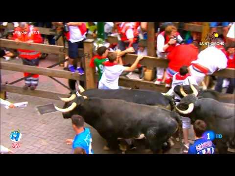 San Fermin 2017 - Running of the bulls 2017 compilation