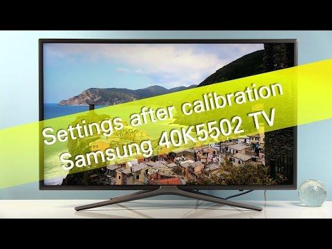 Samsung 40K5502 K5500 TV settings after calibration - Лучшие приколы