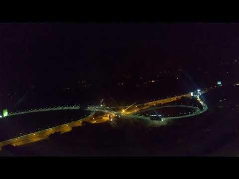 Night Landing at Bengaluru Kempegowda Internation Airport, Indigo Airlines