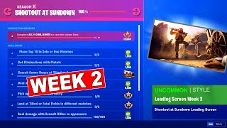SHOOTOUT AT SUNDOWN CHALLENGES (WEEK 2) FREE REWARD ITEMS UNLOCKED FORTNITE SEASON 10
