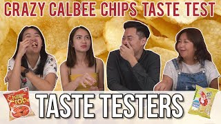 Crazy Flavoured Calbee Chips   Taste Testers   EP 61
