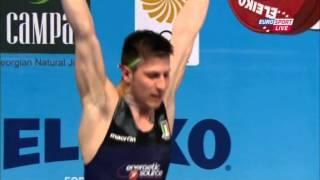 Тяжелая атлетика. Чемпионат Европы 2015 г. Мужчины до 56 кг.