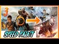 God of War ANIME Style SPEED PAINT - Part 03 BACKGROUND