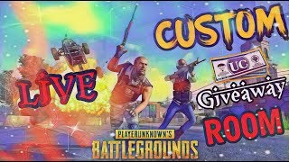 🔴 LIVE CUSTOM ROOM PUBG MOBILE LIVE  ANYONE CAN JOIN AND PLAY #UC GIVEAWAY🔴ROAD TO 5K