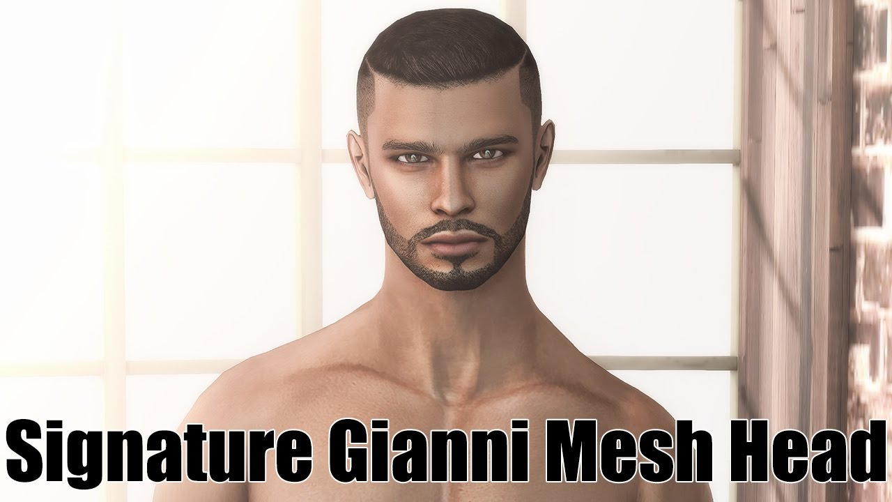 Signature Gianni Male Mesh Head in Second Life