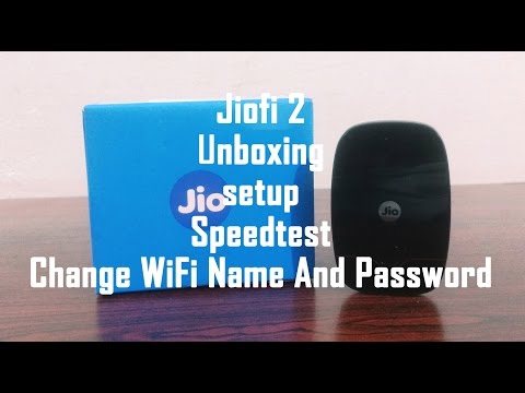 JioFi 2 Latest Device Review:Unboxing, Setup, SpeedTest & Change WiFi Name And Password
