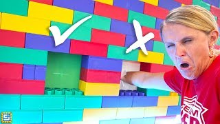 Mystery Hole in the Wall Challenge!! Don't Put Your Hand in the Wrong Giant Lego Box!