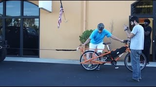 Electric Cargo Bicycle PULLING A 5000LB JEEP RUBICON