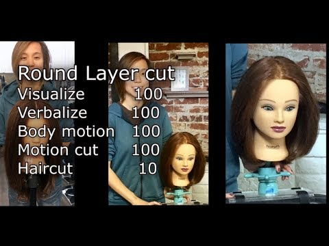 Round Layer Haircut Tutorial Quick Preview Video How To Practice