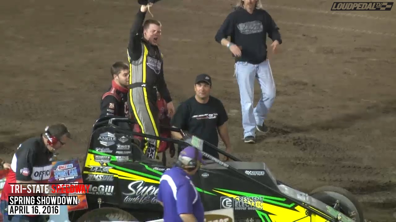 Highlights: USAC AMSOIL National Sprint Cars at Tri-State Speedway - April 16, 2016