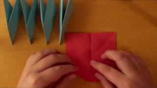 origami how to make a transforming ninja star 8 pointed