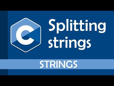 How to split strings in C