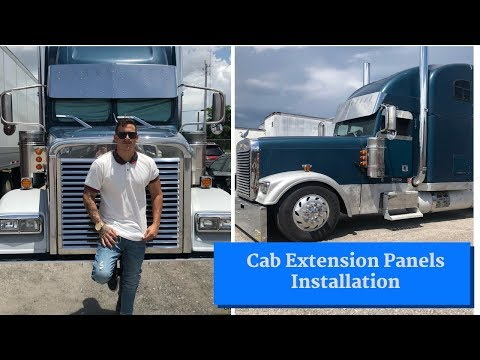 Freightliner Classic | Cab Extension Panels Installation