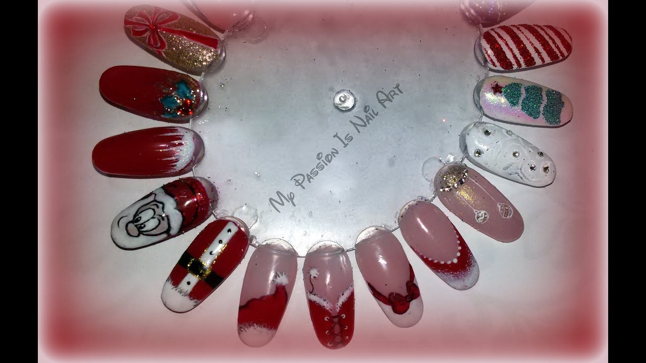 Nail Art Natalizie Semplici In Gel O Smalti Tutorial Xmas Nails