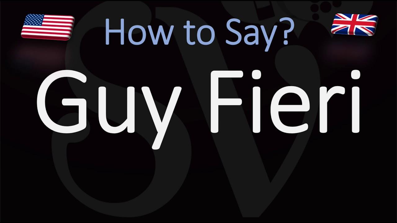 How to Pronounce Guy Fieri? (CORRECTLY)