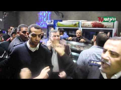 مشادات بالأيدي بين عميد شرطة وصاحب كافيتريا بالمهندسين