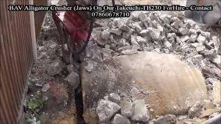 bav alligator crusher hydraulic jaws on takeuchi tb230 part 3