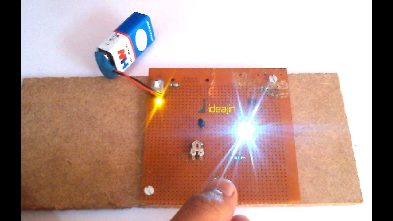 Automatic night light pcb layout - Automatic Night Lamp Ldr Based