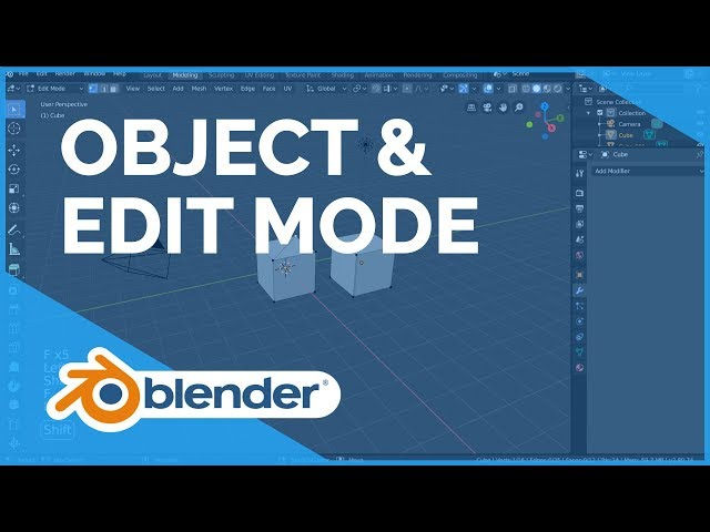 Object and Edit Mode - Blender 2.80 Fundamentals