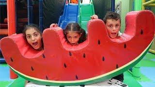 Birthday Party Indoor Playground Kids Fun - Heidi is 6 ! Family Vlog Video