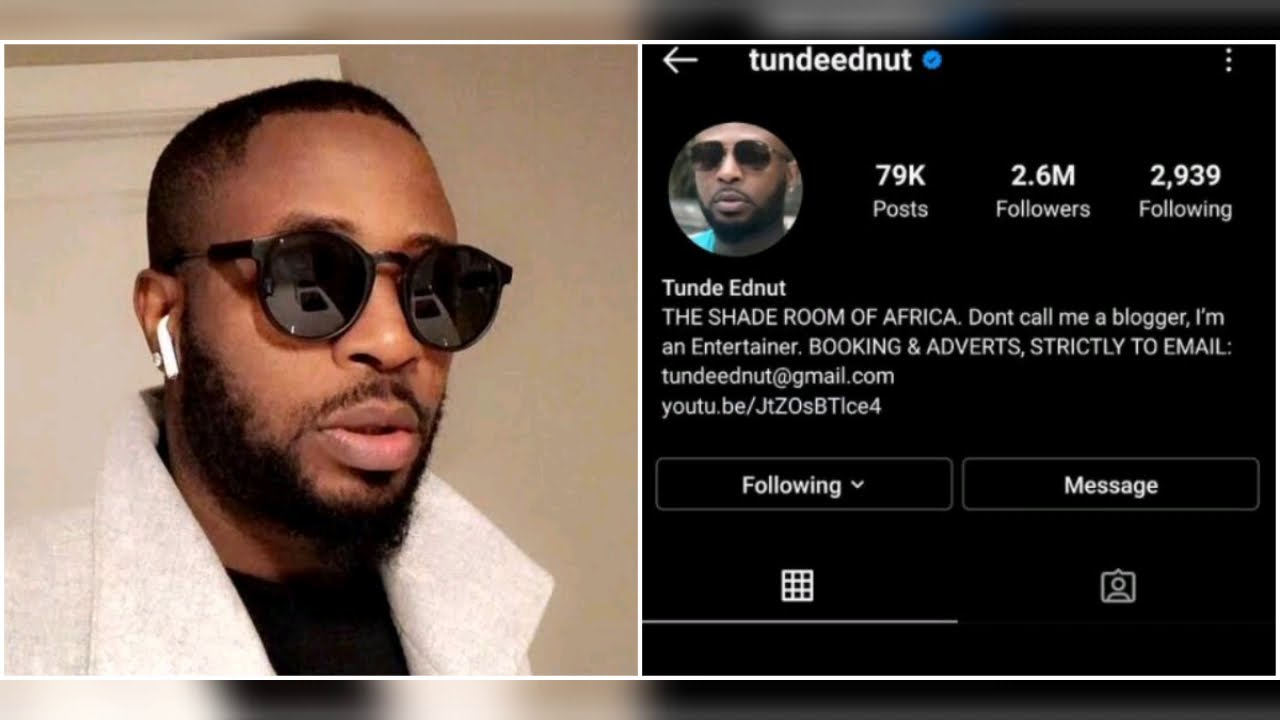 Speed Darlington Mocks Tunde Ednut After Losing His Instagram Account Youtube The shade room of africa. speed darlington mocks tunde ednut