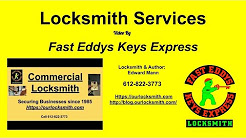 Locksmith Services | Fast Eddys Keys Express