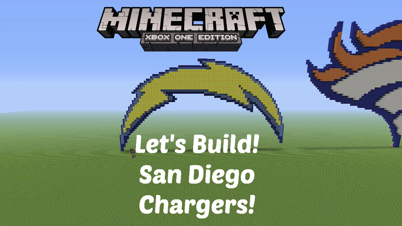Minecraft Let S Build Nfl Logos San Diego Chargers
