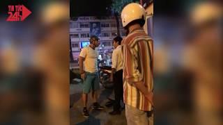 Khách tây bẻ gương, đánh tài xế taxi tại Diamond plaza