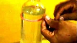 Como Cortar  Garrafa De Vidro Com  Barbante e Agua