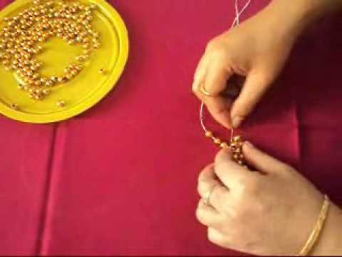 Bead Craft A Table Mat Youtube