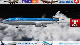 Flight 787 - Advanced - McDonnell Douglas MD-11-[(TURKISH Airlines)-(KLM)-(FEDEX)-(AEROFLOT)]