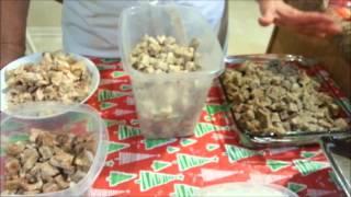 Preparación de la hallaca. El guiso  Parte 1  Ingredientes