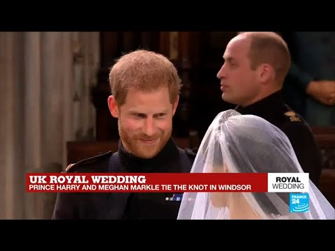 UK Royal Wedding: Prince Harry meets Meghan Markle at the altar