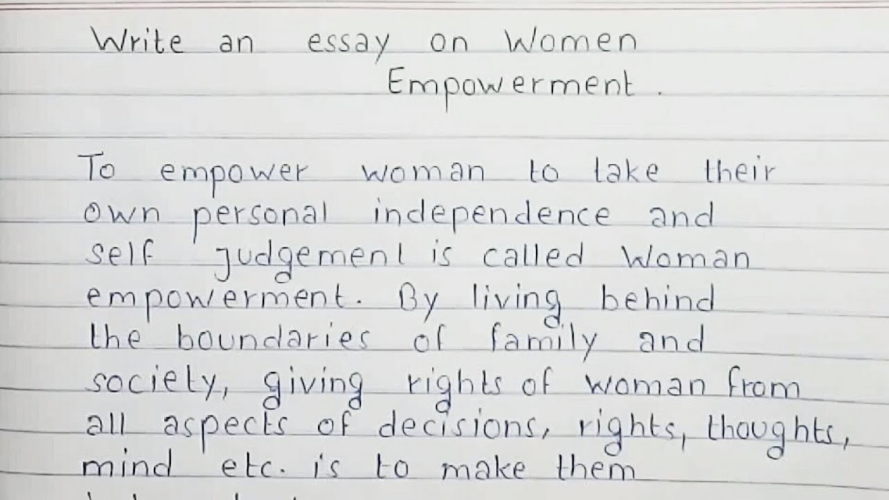 videos of women essay