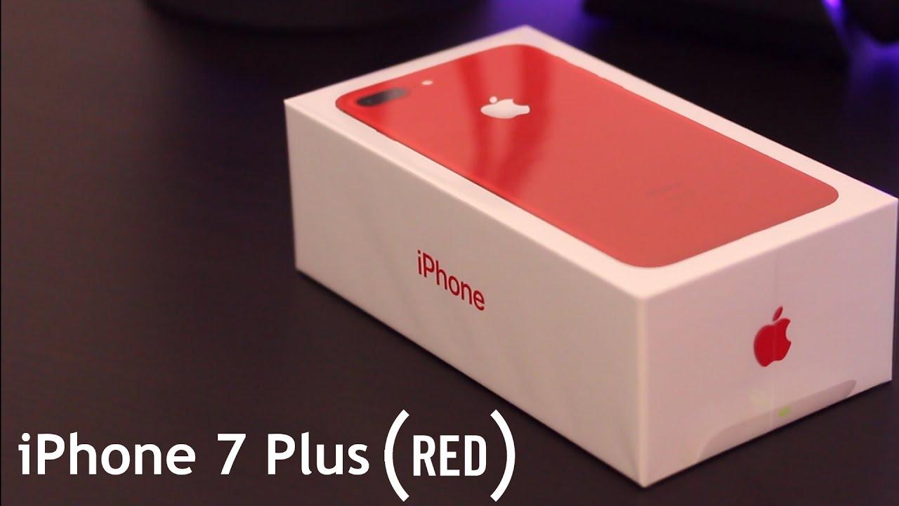 iphone 7 plus product red unboxing jet black comparison youtube. Black Bedroom Furniture Sets. Home Design Ideas